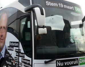 Bus D66 Bustour gemeenteraadsverkiezingen 2014