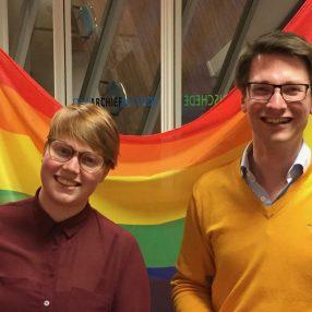 LHBT+-kandidaten D66 Enschede Iris Rutjes Vera Korblet Vic van Dijk en Mehmet Balaman