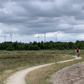 Windmolens Duitsland gezien van over de grens bij Haaksbergen